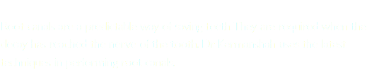 Root canals are a predictable way of saving teeth. They are required when the decay has reached the nerve of the tooth. Dr. Kermanshah uses the latest techniques in performing root canals.